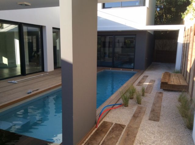 Piscine 8 1x2 92 m anglet 64 ever blue maison egura for Piscine 92